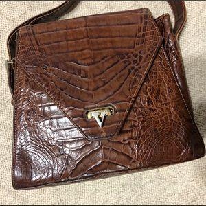 Vintage Valentino Garavani  crocodile leather bag